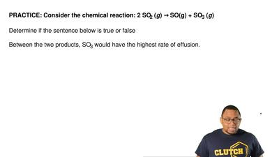 Consider the chemical reaction: 2 SO2 (g) → SO(g) + SO3 (g)  Determine if the ...