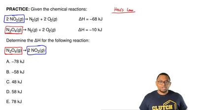 Given the chemical reactions:  2 NO2(g) → N2(g) + 2 O2(g)                  ΔH ...