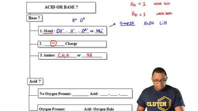 Knowing if you have a weak or strong acid or base is important in determining ...