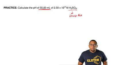 Calculate the pH of 55.00 mL of 2.50 x 10 –1 M H2SO4. ...