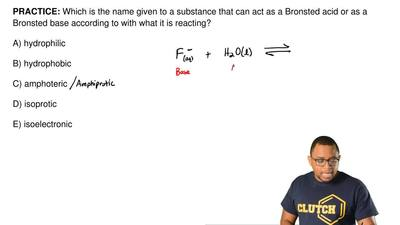 Which is the name given to a substance that can act as a Bronsted acid or as a...