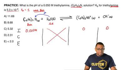 What is the pH of a 0.050 M triethylamine, (C 2H5)3N, solution? Kb for triethy...