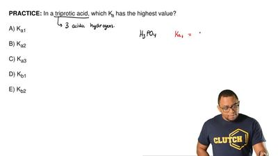 In a triprotic acid, which Ka has the highest value?  A) Ka1  B) Ka2  C) Ka3  ...