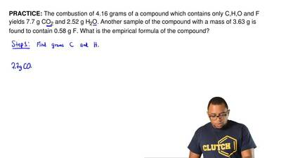 The combustion of 4.16 grams of a compound which contains only C,H,O and F yie...
