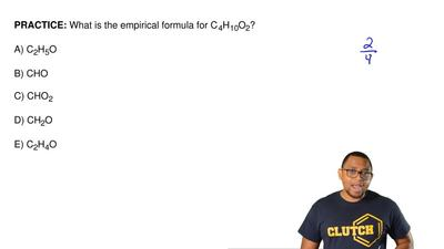 What is the empirical formula for C 4H10O2?  A) C2H5O   B) CHO  C) CHO2  D) CH...