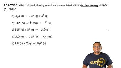 Which of the following reactions is associated with the  lattice energy of Li2...
