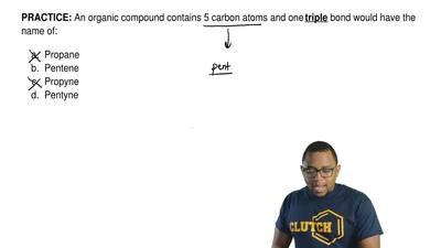 An organic compound contains 5 carbon atoms and one triple bond would have the...