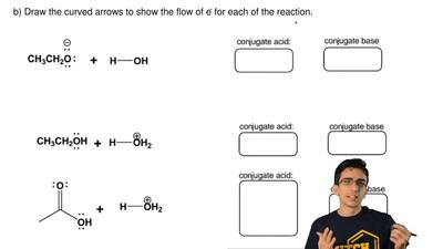Write the products for the following acid-base reaction.  a) These reactions w...