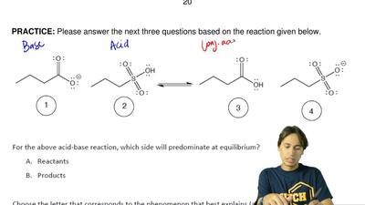 Please answer the next three questions based on the reaction given below. ...