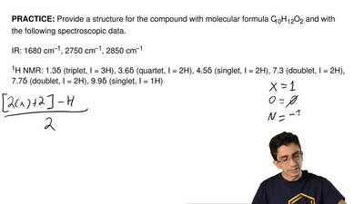 Provide a structure for the compound with molecular formula C10H12O2 and with ...