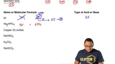 As quickly as possible, identify the compounds below by type of acid or base. ...