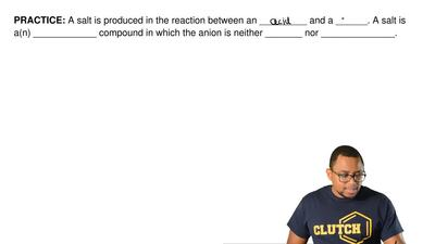 A salt is produced in the reaction between an _________ and a ______. A salt i...