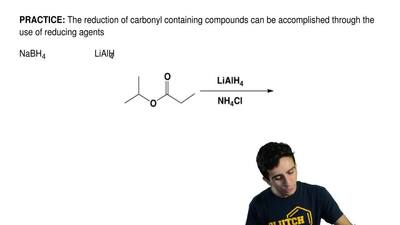 The reduction of carbonyl containing compounds can be accomplished through the...