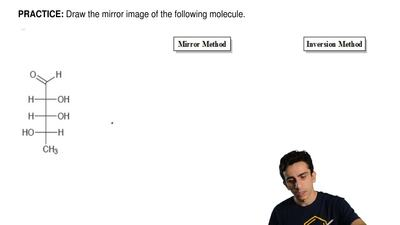 Draw the mirror image of the following molecule.  ...