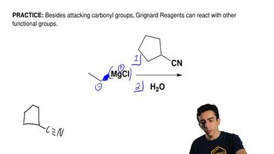 Besides attacking carbonyl groups, Grignard Reagents can react with other func...