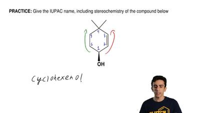 Give the IUPAC name, including stereochemistry of the compound below ...