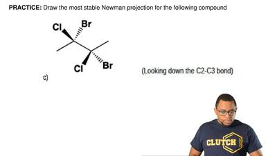 Draw the most stable Newman projection for the following compound ...