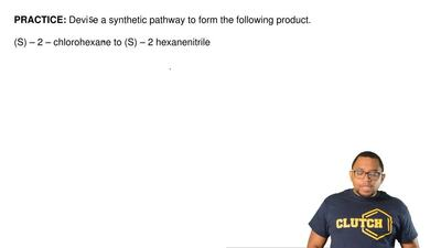 Devise a synthetic pathway to form the following product.   (S) – 2 – chlorohe...