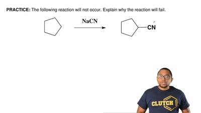 The following reaction will not occur. Explain why the reaction will fail.  ...