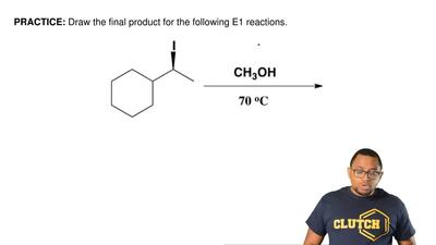Draw the final product for the following E1 reactions.  ...