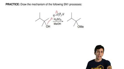 Draw the mechanism of the following SN1 processes: ...