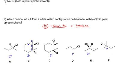 Answer each of the following questions dealing with the given alkyl halides  a...