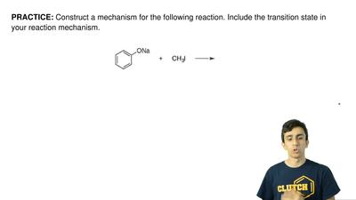 Construct a mechanism for the following reaction. Include the transition state...