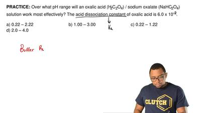 Over what pH range will an oxalic acid (H 2C2O4) / sodium oxalate (NaHC2O4) so...