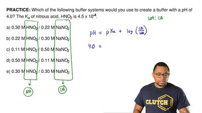 Which of the following buffer systems would you use to create a buffer with a ...