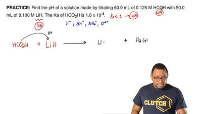 Find the pH of a solution made by titrating 60.0 mL of 0.125 M HCO  2H with 50...