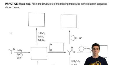 Road map. Fill in the structures of the missing molecules in the reaction sequ...