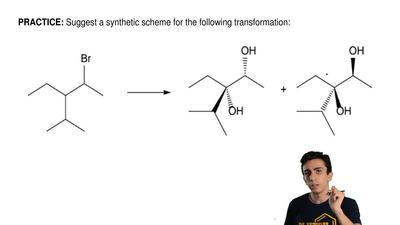 Suggest a synthetic scheme for the following transformation: ...