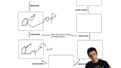 Provide a mechanism for the following transformation. Show all important flows...