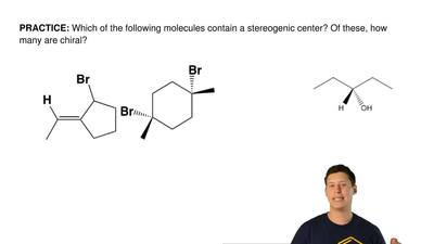 Which of the following molecules contain a stereogenic center? Of these, how m...