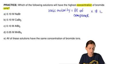 Which of the following solutions will have the highest concentration of bromid...