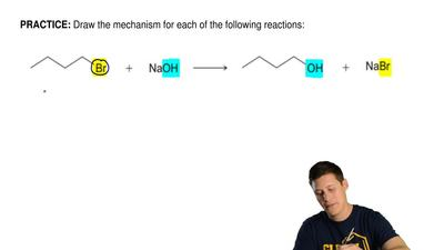 Draw the mechanism for each of the following reactions: ...