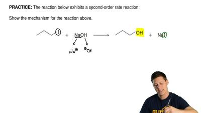 The reaction below exhibits a second-order rate reaction:   Show the mechanism...