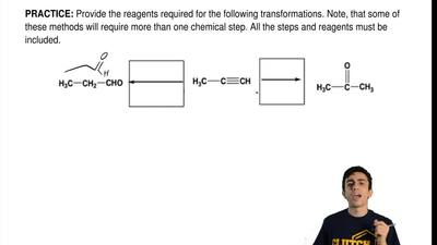 Provide the reagents required for the following transformations. Note, that so...