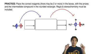 Place the correct reagents (there may be 2 or more) in the boxes, with the arr...