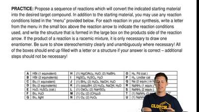 Propose a sequence of reactions which will convert the indicated starting mate...