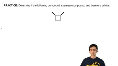 Determine if the following compound is a meso compound, and therefore achiral....