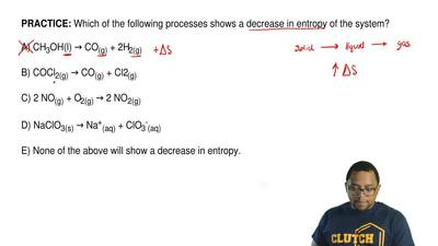 Which of the following processes shows a decrease in entropy of the system?  A...