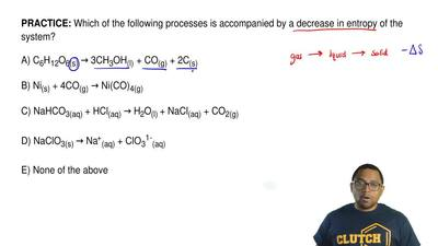 Which of the following processes is accompanied by a decrease in entropy of th...