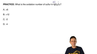 What is the oxidation number of sulfur in H2S2O7?  A. +6  B. +12  C. -2  D. -4...