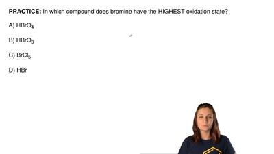 In which compound does bromine have the HIGHEST oxidation state?  A) HBrO4  B)...