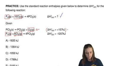 Use the standard reaction enthalpies given below to determine ΔH°rxn for the f...