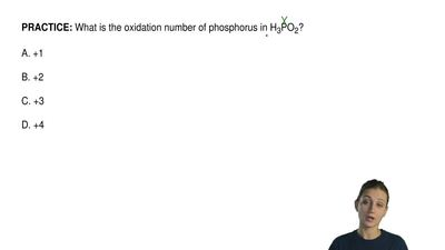 What is the oxidation number of phosphorus in H 3PO2?  A. +1  B. +2  C. +3  D....