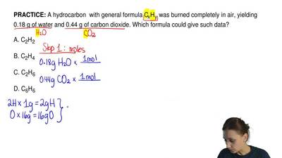 A hydrocarbon  with general formula CxHy was burned completely in air, yieldin...