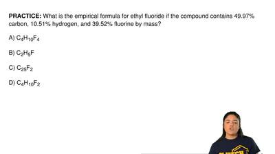 What is the empirical formula for ethyl fluoride if the compound contains 49.9...
