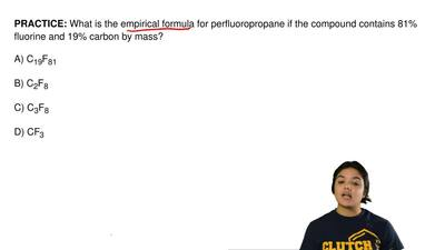 What is the empirical formula for perfluoropropane if the compound contains 81...